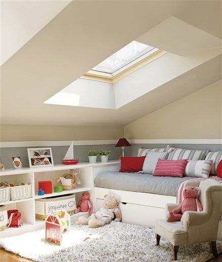 Liv's new room, bed under the skylight?