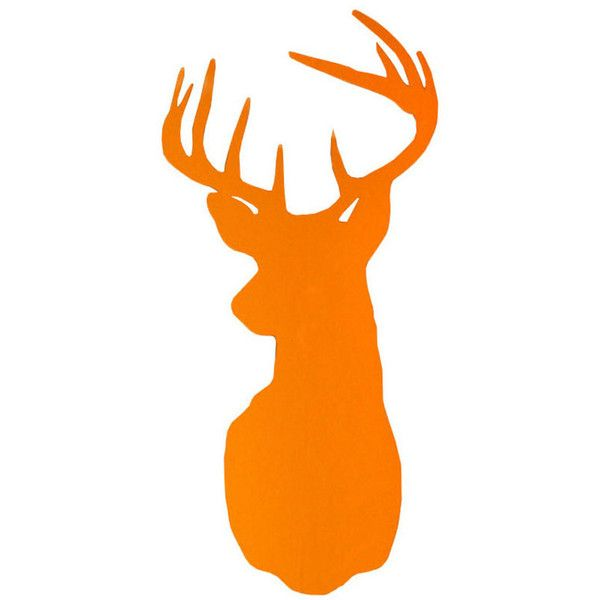 Rockett St George Large Stag Head Wall Sticker – Orange ($54) ❤ liked on Polyvore