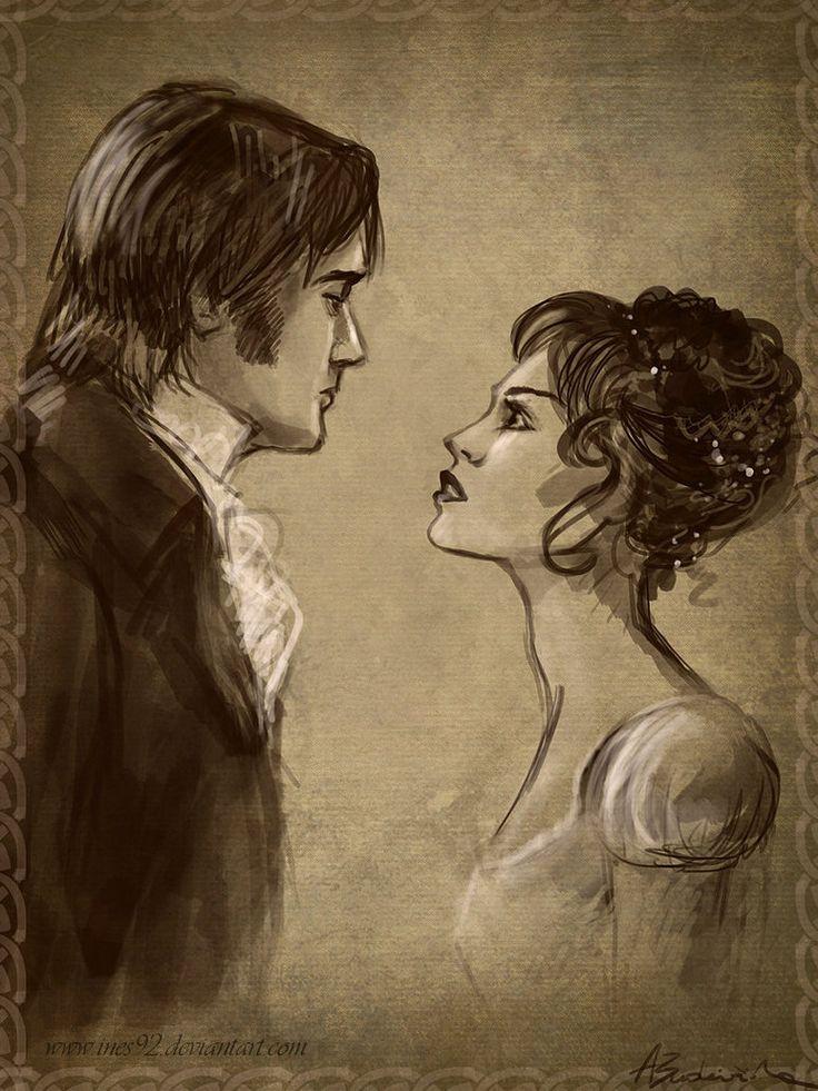 Lizzy y Darcy de Orgullo y Prejuicio
