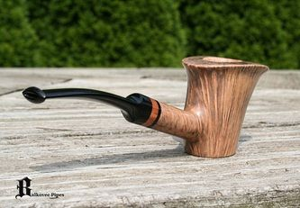 Pipe Pictures - Briar Pipes by Mark Balkovec 103 Flared Rim Poker with briar inlay