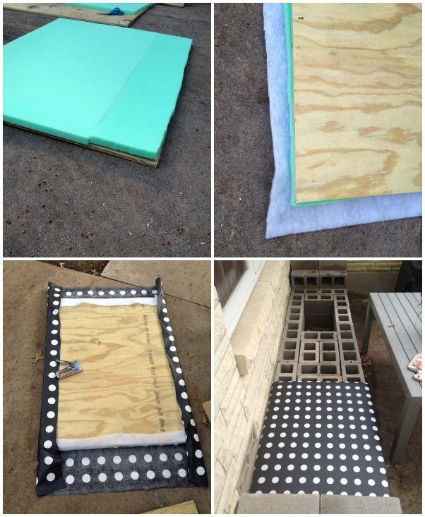 How to make an cinder block bench