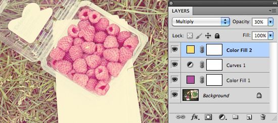 Bubbelrosa och ljusa sommarbilder, photoshop tutorial (in swedish)