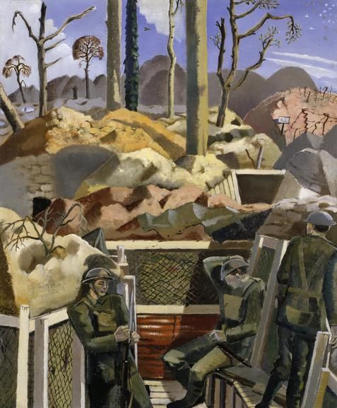 'Spring in the Trenches' by Paul Nash (1918).