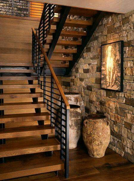 25 best ideas about rustic stairs on pinterest basement for Escaleras rusticas