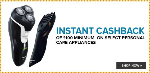 Personal Appliances - Minimum Rs.100 Off
