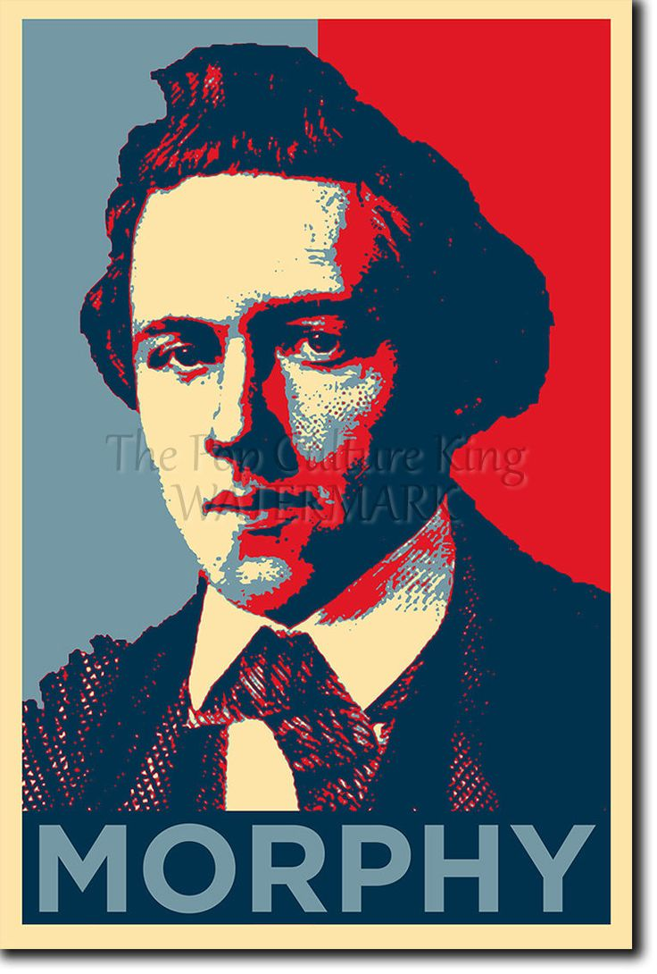 Paul Morphy Poster - Unique Photo Art Print Gift Chess