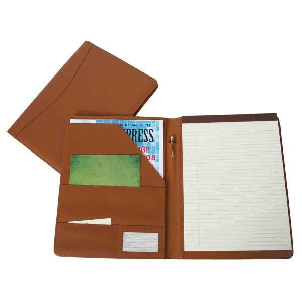 "Ultra Bonded Leather Padfolio (Tan) (12.5""H x 9.75""W x 0.75""D)"