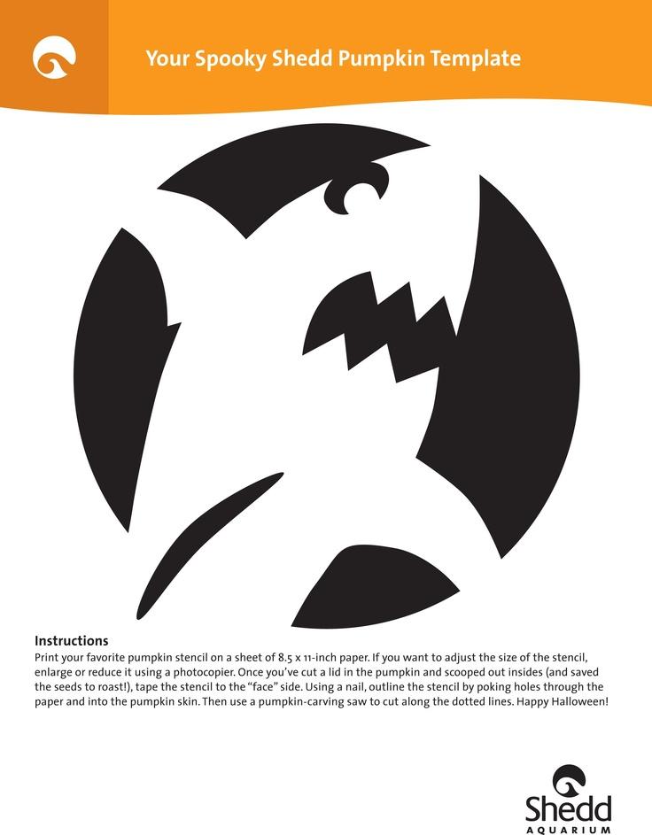 Shark Pumpkin Carving Silhouette