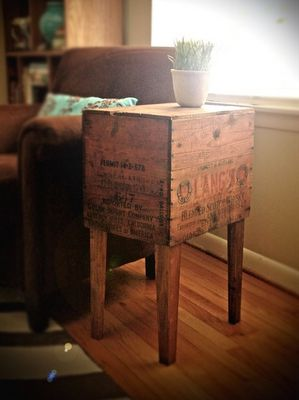 shipping crate side tables