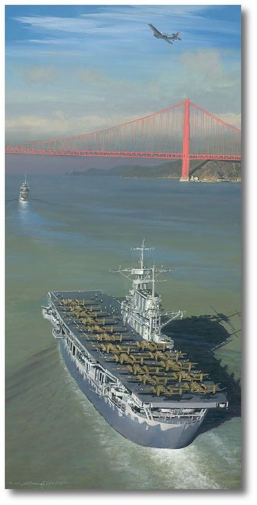 Approaching the Gate to Destiny by William S. Phillips (B-25 Mitchell)