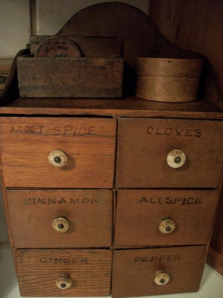 132 best Antique Spice Boxes images on Pinterest | Primitive decor ...