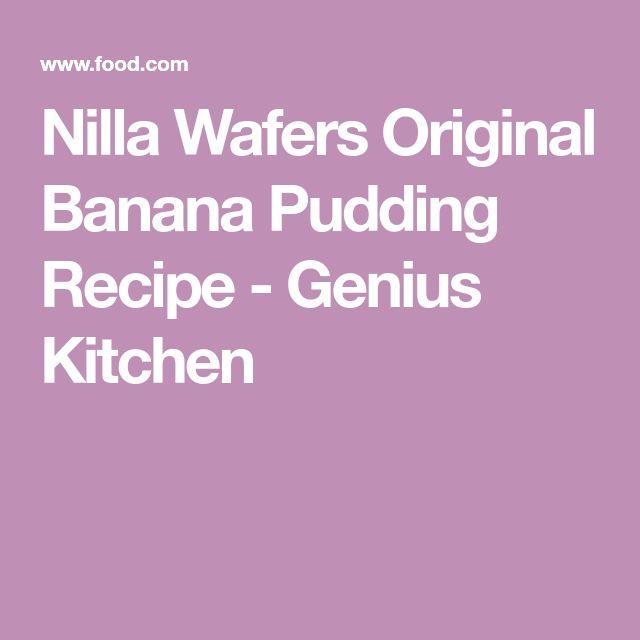 Nilla Wafers Original Banana Pudding Recipe - Genius Kitchen