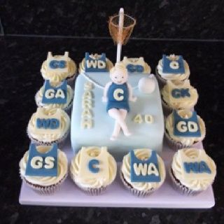 netball cupcakes - Google Search