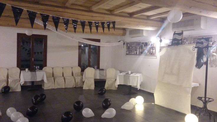 Sala allestita a Tema Black & White da #DedicatoAte