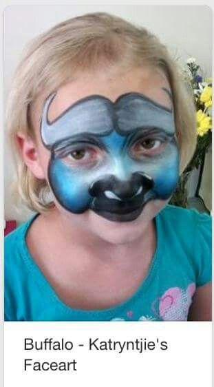 water buffalo face paint design animal face painting pinterest paint designs and xmas. Black Bedroom Furniture Sets. Home Design Ideas