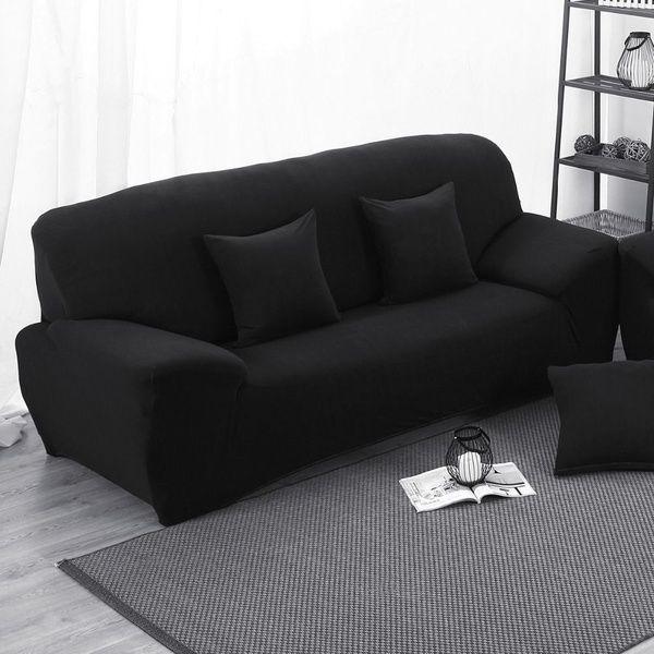 16 Solid Colors New Cloth Art Turnkey Antiskid Spandex Stretch Sofa Cover Elastic Furniture Cover Fashionable Soft Sof Sofa Covers Single Seater Sofa Soft Sofa