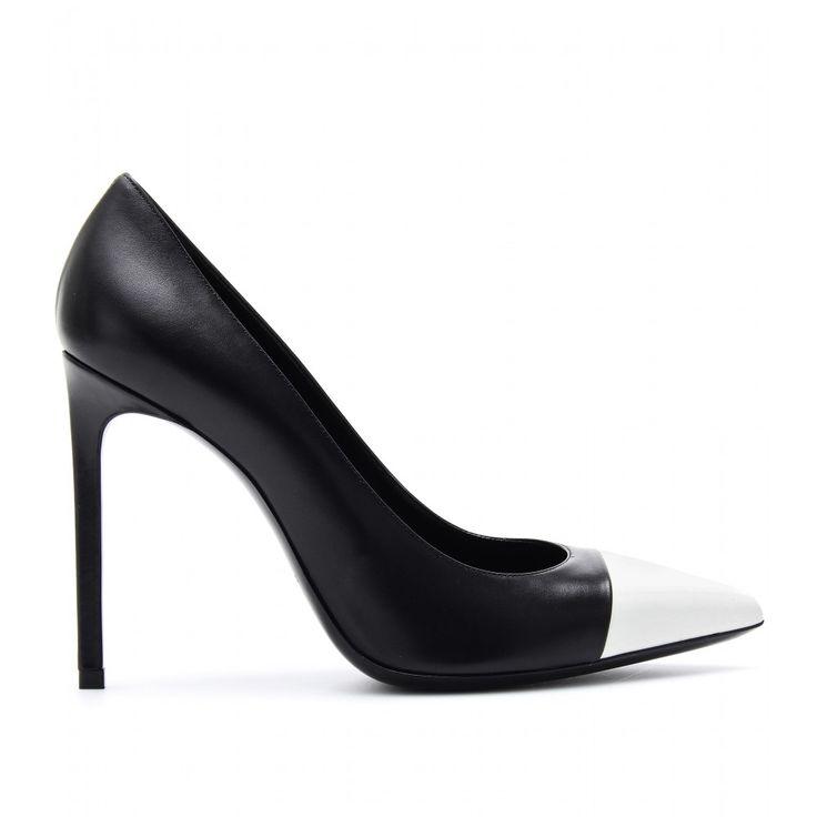 mytheresa.com - Two-Tone-Pumps Aus Leder ► Saint Laurent ∇ mytheresa - Luxury Fashion for Women / Designer clothing, shoes, bags