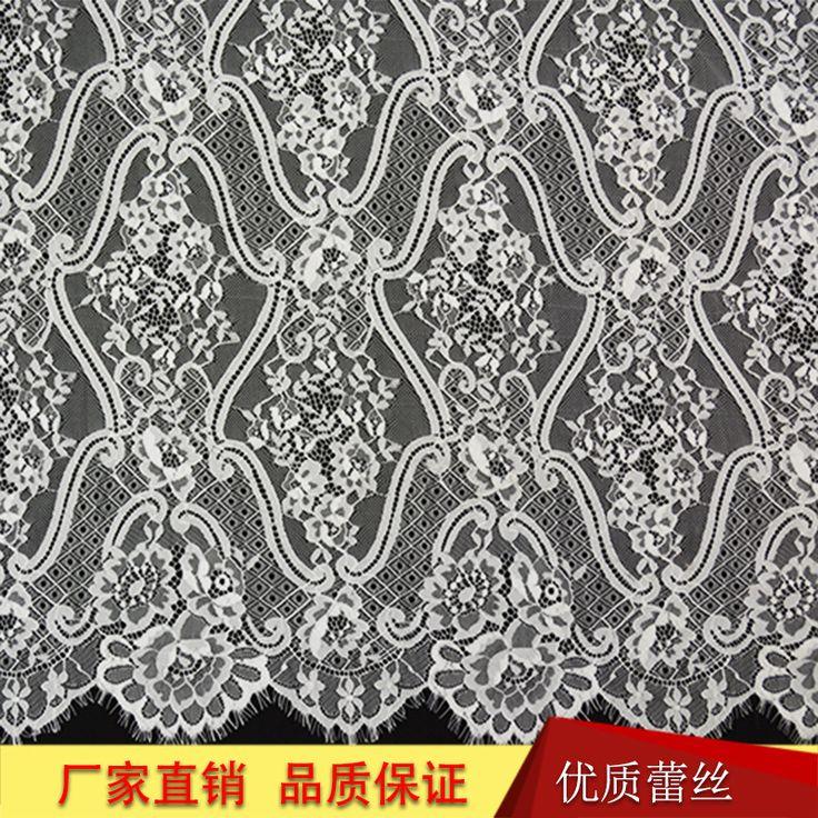 オフ ホワイト ブラック まつげ フレンチシャンティーレース用ウェディング ドレス女性の ファッション ドレス 150*300 センチ/ピース送料無料工場価格!(China (Mainland))