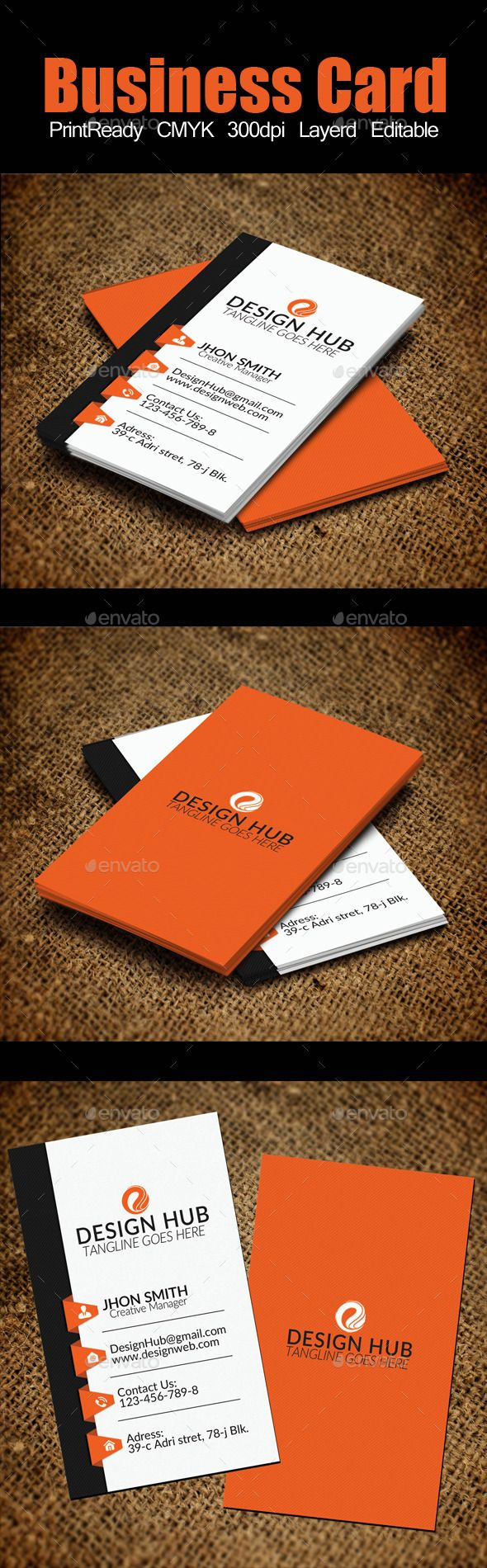 7 best business cards template images on pinterest business card vertical business card template magicingreecefo Image collections