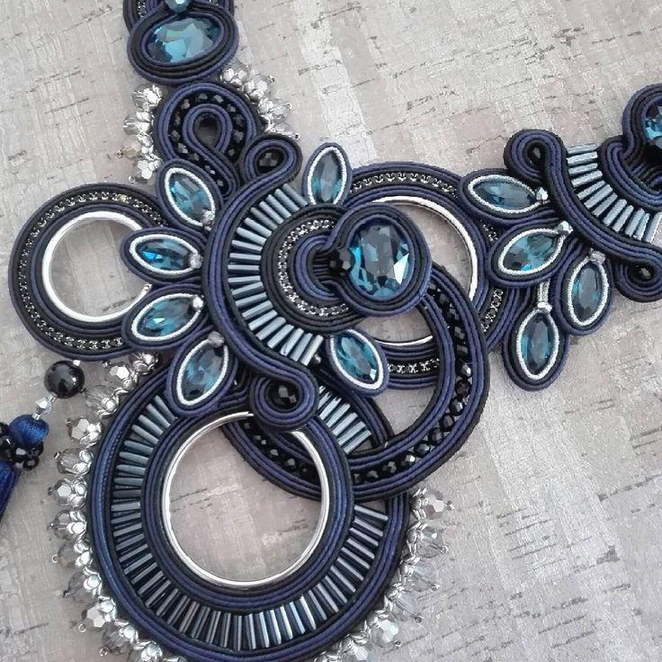 BB necklace. In love with it. (Dori inspired) #adelslaboratory #alessandradelvitto #lab #atelier #costumejewelry #bijoux #accessori #gioielleriaalternativa #soutache #soutachenecklace #necklace #fashion #fashionjewelry #fashiondesigner #fashionblogger #moda #milano #varese #nyc #miami #losangeles #paris #london #handmade #handembroidered #madeinitaly