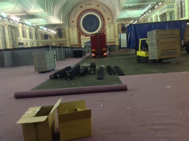 The carpets are coming up and the partitions coming down ... the trucks have arrived and we're the last to leave, as usual