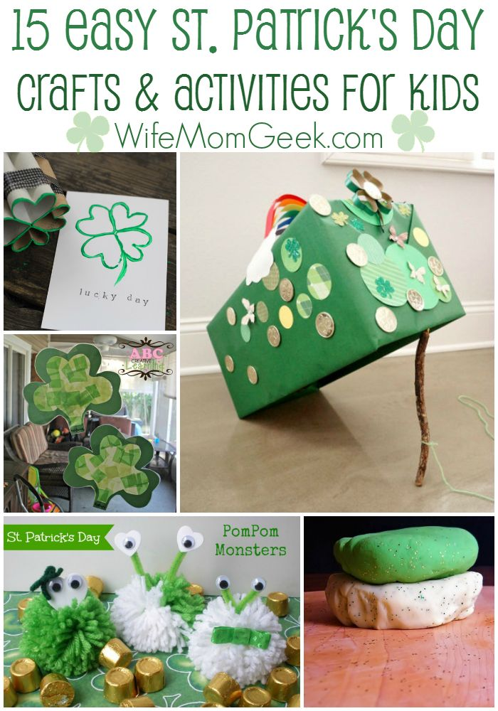 15 Easy St. Patrick's Day Crafts and Activities for Kids