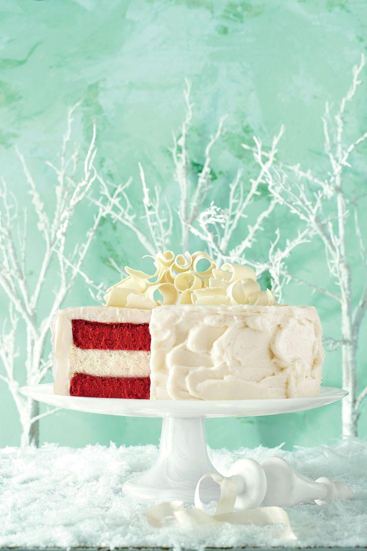 Red Velvet Cheesecake-Vanilla Cake with Cream Cheese Frosting