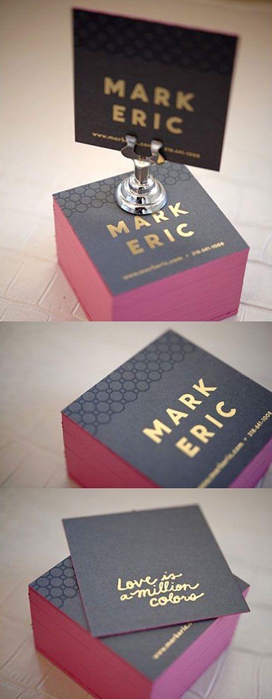 Las tarjetas cuadradas están de moda ahora: | 29 Lindas tarjetas de presentación para los que buscan algo fuera de lo común