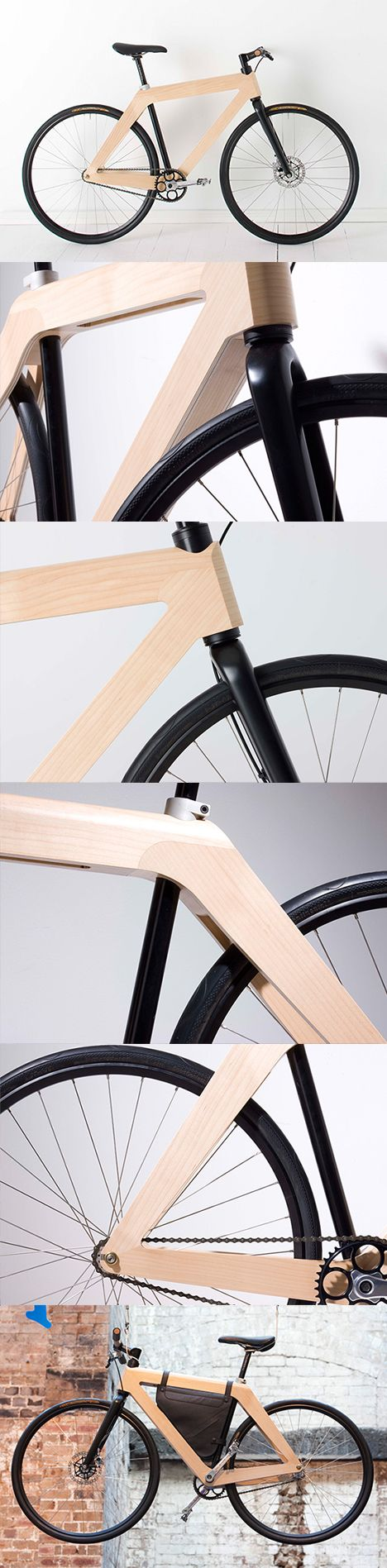 carbon fiber wood bike  - Repinned by ZC Woodwork