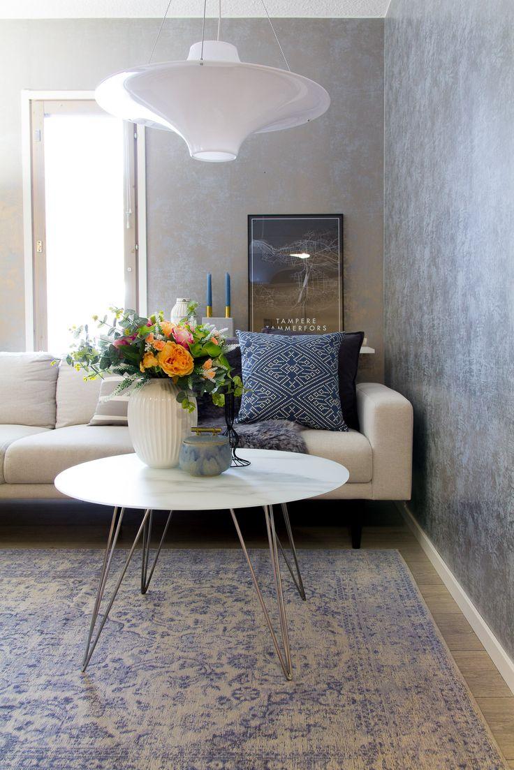 Magic Home Sedef matto, väri sininen