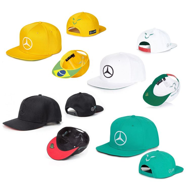 Mercedes F1 Lewis Hamilton Special Edition Hat Bundle Chinese/Mexico/Brazil/Malaysia