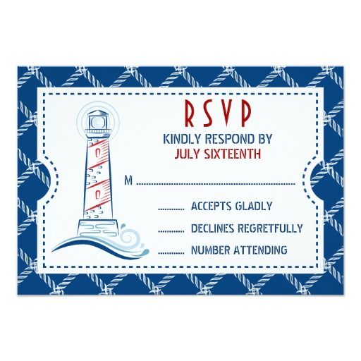 340 best lake wedding invitations images on pinterest bridal nautical wedding invitation ticket rsvp stopboris Image collections