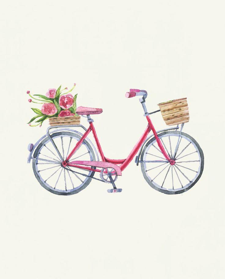 Girl Bicycle Flowy V Neck