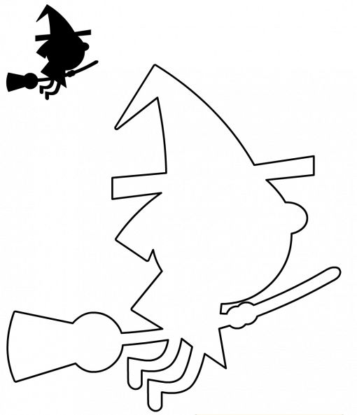 plantillas-brujas-guirnaldas-decoracion-halloween-manualidades-para-ninos.png (510×593)