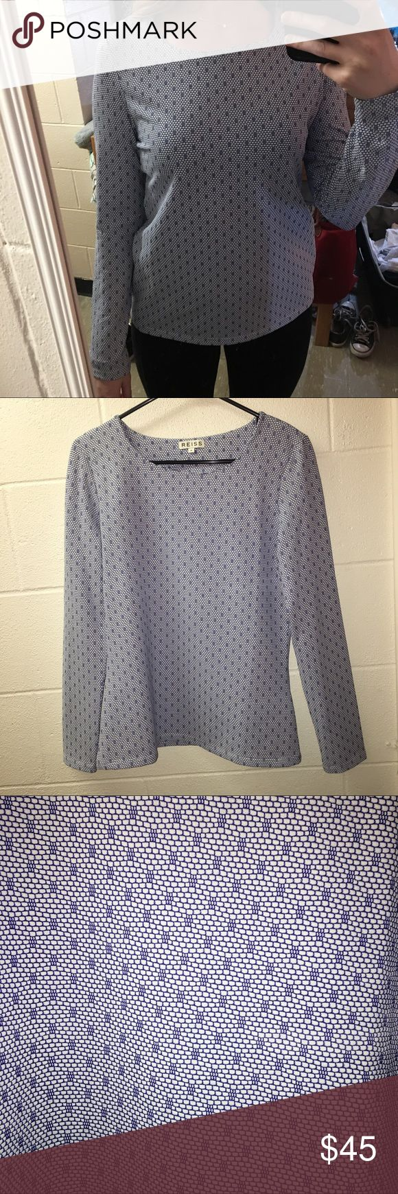 Reiss Top 96% Polyester 4% Elastane Reiss Tops