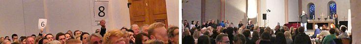 Abstimmung - die Jury sitzt im Publikum