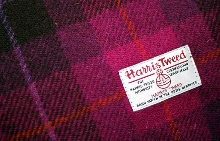 #Harris #Tweed, handwoven by artisans using traditional methods in the Outer Hebrides, is made from pure virgin wool dyed and spun.