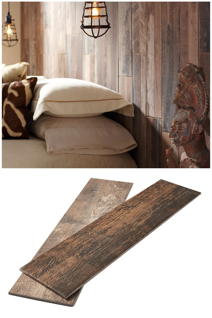 That gorgeous wood you see is actually porcelain tile! As you see, wood- - 70 Best Images About Bedroom Ideas & Inspiration On Pinterest