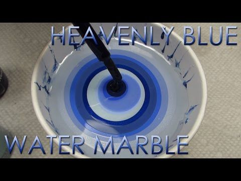Heavenly Blue Water Marble | DIY Nail Art Tutorial | Addicted to Color Series - YouTube