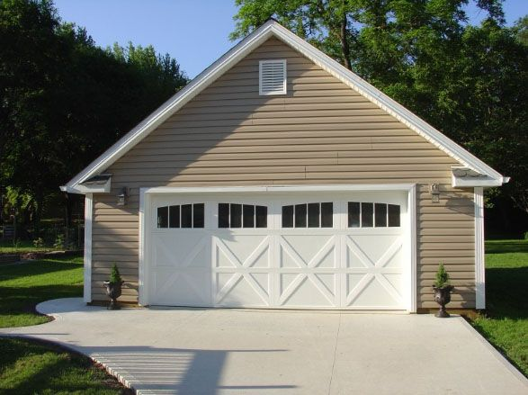 25 best ideas about detached garage on pinterest for Prefab 2 car detached garage