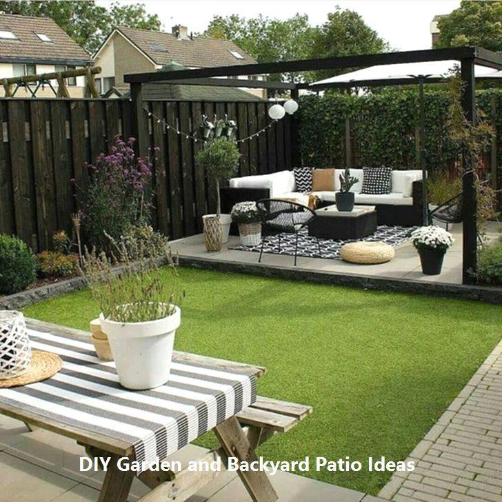Amazingly Creative Diys For You Patio Garden Diypatio Small Backyard Landscaping Small Garden Design Ideas Low Maintenance Small Garden Design