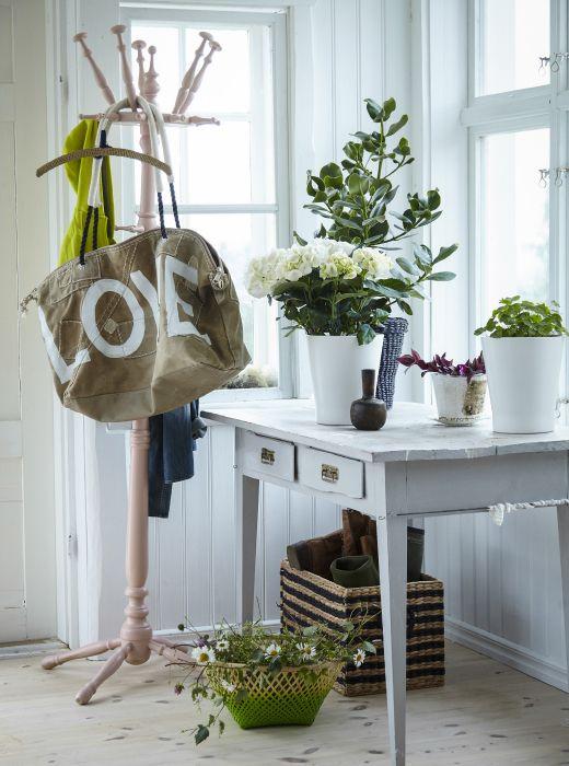 Arreda l'ingresso o il corridoio con le piante per sfumare il confine tra spazio interno ed esterno - IKEA