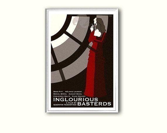 Movie poster retro print Inglourious Basterds by ClaudiaVarosio
