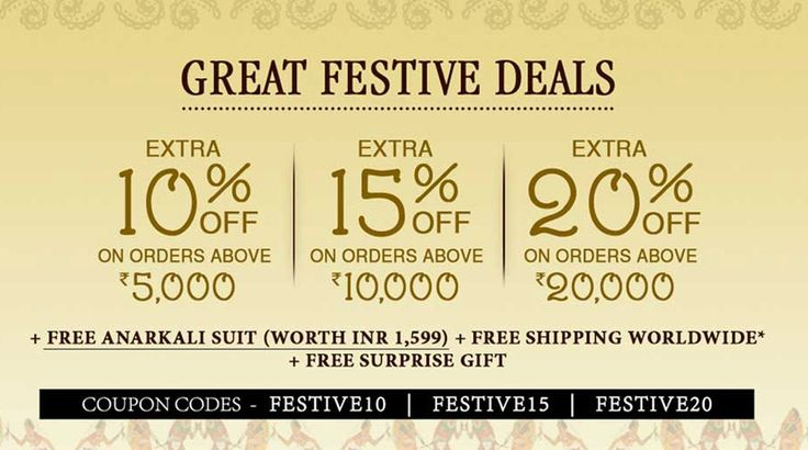 #GreatFestiveDeals are here! It's time you stocked up your #ethnic wardrobe.  Free Anarkali Suit + Free Shipping Worldwide + Free Surprise Gift  Explore now http://indiaemporium.com/