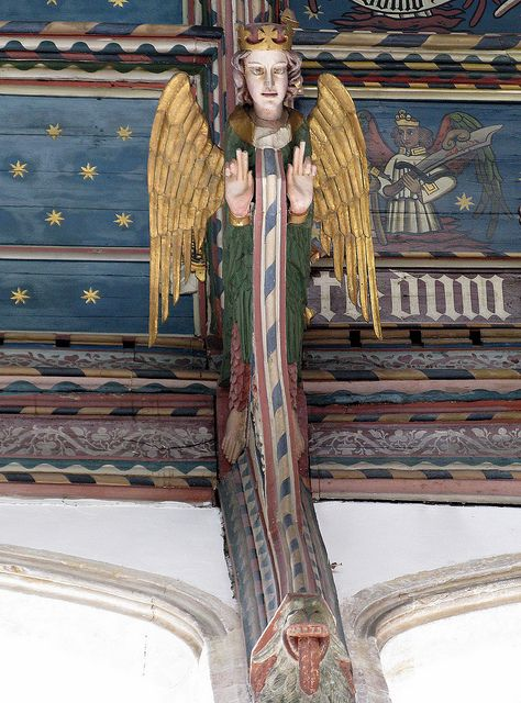 Wooden angel, the chancel ceiling, the Church of St Edmund, Southwold, Suffolk, England | Flickr - Photo Sharing!