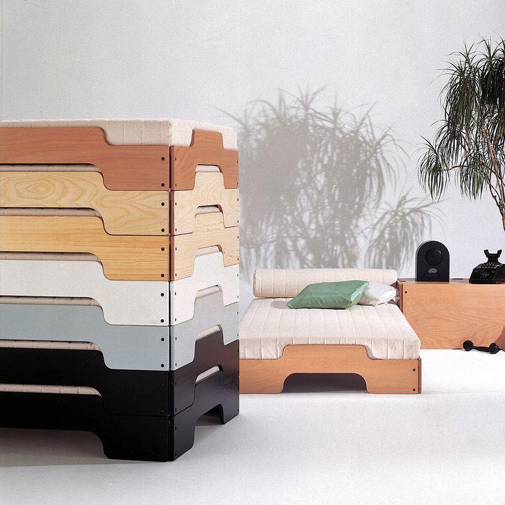 Müller Möbelwerkstätten - Pile Bed - painted