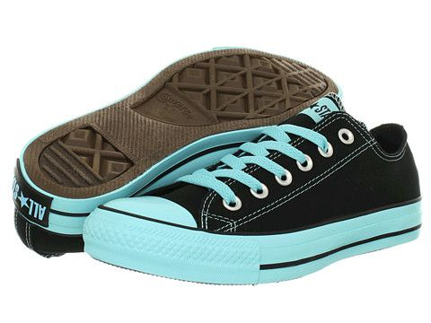 Converse Chuck Taylor® All Star® Colored Bottom Black/Blue Radiance - Zappos.com Free Shipping BOTH Ways Más