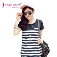 2015 Summer Blouses For Women Loose Fit t-Shirt Wholesale New Design La best buy follow this link http://shopingayo.space