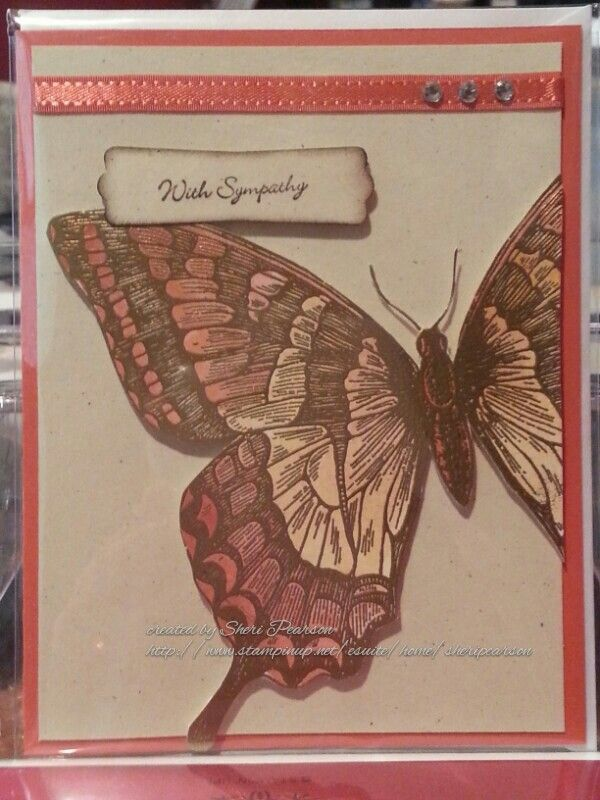 Stampin up swallowtail sympathy card card ideas pinterest
