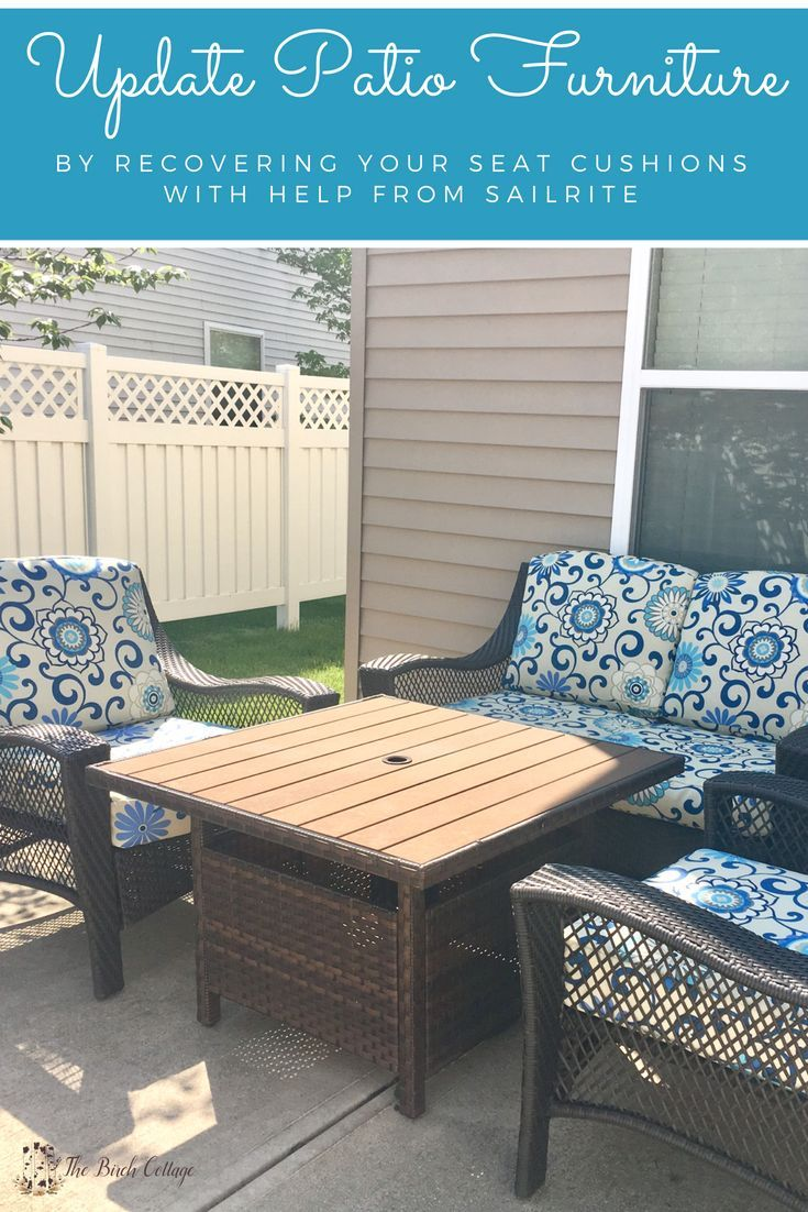 sewing patterns for patio chair cushions portable outdoor with canopy update furniture fabric from sailrite tutorials projects pinterest and diy